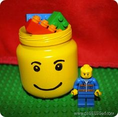 Another great website for repurposing baby food jars...including LEGO containers (LOVE this!!) and baking cupcakes in them for a baby shower (cute idea!).