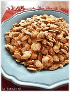 Sugar & Spice Roasted Pumpkin Seeds Recipe on Yummly