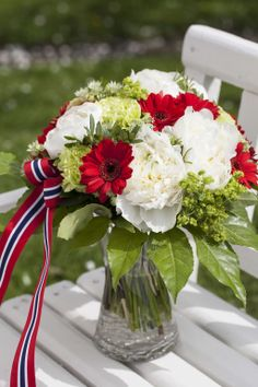 Sons Of Norway, Constitution Day, Public Holidays, 80th Birthday, Floral Arrangements, 4th Of July, Seasons, Table Decorations, Mom