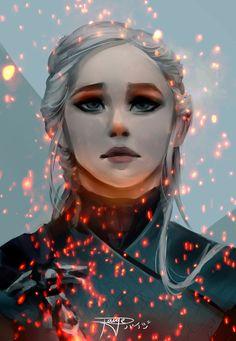 "Game of Thrones Fanart - Daenerys Targaryen ""Be a dragon"" by Paige Locker on ArtStation. Tatuagem Game Of Thrones, Dessin Game Of Thrones, Arte Game Of Thrones, Game Of Thrones Artwork, Game Of Thrones Gifts, Game Of Thrones Books, Game Of Thrones Fans, Daenerys Targaryen Art, Game Of Throne Daenerys"
