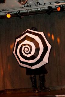 I really want this Tim Burton inspired umbrella. Just imagine swirling this thing-- it must be hypnotic.