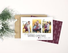 Christmas Photo Card  Married Christmas by Paperelli