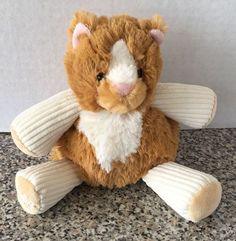 "Scentsy Buddy Baby Scratch The Cat Plush Retired 6"" Stuffed Kitty Corduroy Scent…"