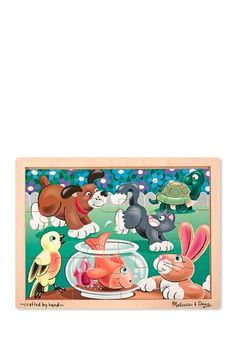 Playful Pets 12 Piece Jigsaw Puzzle by Melissa & Doug on @HauteLook