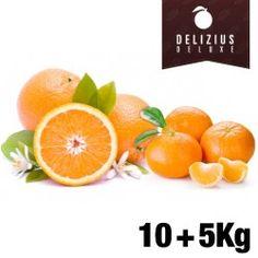 Lote Naranjas y Mandarinas Deluxe (Naranja Navelina 10 kg + Mandarina Clemenules 5 kg)