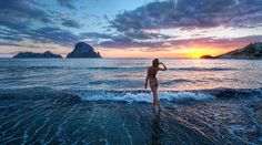A lovely #Italian girl and a breath-taking #Mediterranean #sunset. #Ibizi. from #treyratcliff at http://www.StuckInCustoms.com - all images Creative Commons Noncommercial