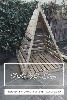 This tutorial will teach YOU how to make a pallet kids teepee in 5 Easy Steps! We are pretty sure that your kids will love it! Use this idea as a trellis idea for those tomato, bean or other vining plants in your garden, too!