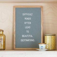 Funkk - Medium Grey Oak Wood and Felt Letterboard lettering hand lettering brush lettering Word Board, Quote Board, Message Board, Felt Letter Board, Felt Letters, Felt Boards, Quotes To Live By, Me Quotes, Funny Quotes