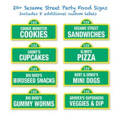 Lately I have a lot of requests to make Elmo and Sesame Street party kit. Then I figure why don't I put all the party ideas into 1 post that might come handy. Sesame Street Food, Sesame Street Signs, Sesame Street Party, Sesame Streets, Sesame Street Birthday Party Ideas, Sesame Street Cookies, 1st Boy Birthday, Boy Birthday Parties, Birthday Ideas