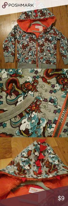 Washed never worn boys Dragon Hoodie Dragon Hoodie zip up front fleece hood. Hanger included. Truly Scrumptious by Hedi Klum Shirts & Tops Sweatshirts & Hoodies