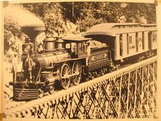 1870 photograph of steam locomotive, Portland & Ogdensburg Railroad Time Travel Machine, Diesel, Old Steam Train, Railroad History, Train Times, Train Art, Old Trains, Le Far West, Electric