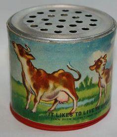 Als je dit doosje omdraaide, hoorde je het geluid van een loeiende koe