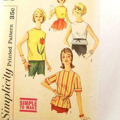 Vintage 1960s Dress Pattern Size 12 Petite Bust 32 by Revvie1, $8.00