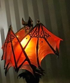 I love this Twilight inspired Bat lamp and it would be terrific for Halloween. Lampe Decoration, Goth Home, Gothic Furniture, Futuristic Furniture, Modern Furniture, Furniture Design, Creation Art, Tadelakt, Gothic House