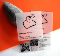 Semi transparent Business card design for photographer. More of ...