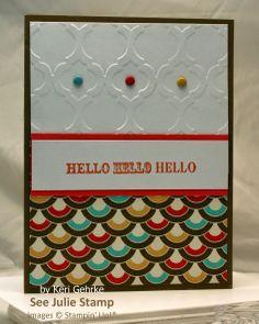 See Julie Stamp - Julie Wadlinger, Stampin' Up! Demonstrator : Swap: Cards in the Mail