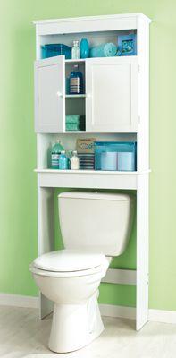 Meuble wc blanc