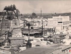 """Kopalnia Węgla Kamiennego """"Wujek"""" - Ruch Śląsk (Kopalnia Węgla Kamiennego """"Śląsk""""), Ruda Śląska - 1972 rok, stare zdjęcia"""
