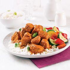 Butter chicken 250 calories per serving! Indian Food Recipes, Dog Food Recipes, Chicken Recipes, Ethnic Recipes, Pizza Legume, Butter Chicken, Garam Masala, Calories, Portion