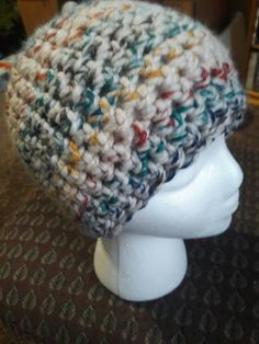 Crochet Messy bun beanie/workout hat/women