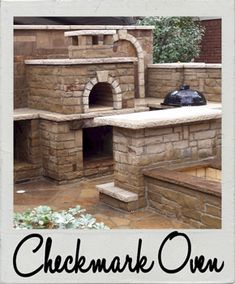 Checkmark Landscaping Wood Fired Brick Pizza Oven in Texas by BrickWood Ovens