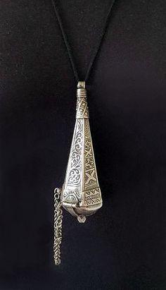 Antique Berber Silver Perfume Amulet