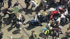 Pro-Trump, anti-Trump protesters clash in Berkeley, California