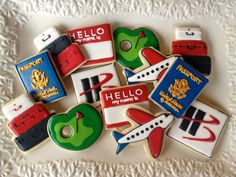 Leaving on a Jet Plane Travel Sugar Cookie by NotBettyCookies, $42.00