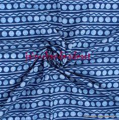 2.5 yard Indian hand block Bagru Print cotton Sanganeri Indigo Blue Dabu Fabric #Handmade