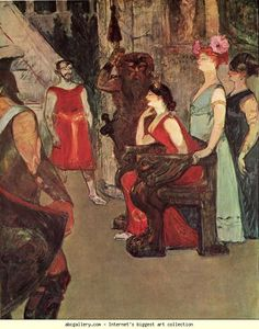 Henri de Toulouse-Lautrec. Messalina Seated. Olga's Gallery.