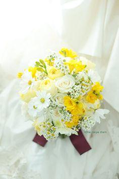 本日、渋谷のレガート様へのブーケ、 白とぱっきり黄色。   という、ブログ書きながら 今うっかりEnterキー押してしまった。 よくわから...