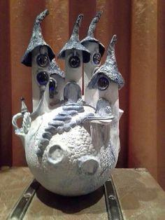 Een andere sprookjesachtige variant op een mini droomvlucht kasteel.