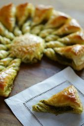 Easy Holiday Appetizer Idea using Store-Bought Puff Pastry! So impressive and EASY! via Easy Holiday Appetizer Idea using Store-Bought Puff Pastry! So impressive and EASY! Puff Pastry Appetizers, Appetizers For A Crowd, Holiday Appetizers, Holiday Recipes, Seafood Appetizers, Party Appetizers, Easter Recipes, French Appetizers, Vegetarian Appetizers