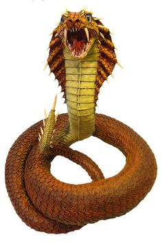 Paper Mache Naga- new front. Pinned from http://gourmetpapermache.com/2015/01/17/naga-paper-mache-dragon-queen-of-snakes/