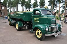 coe Chevrolet classic with tanker