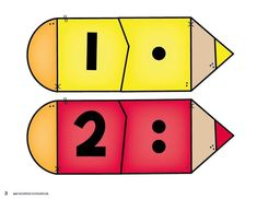 Back to School Number Matching - Kindergarten Math Centers by Kristin Edwards Numbers Preschool, Kindergarten Math, Preschool Activities, Number Activities, Math Games, Learning Activities, Number Matching, Math Journals, Math For Kids