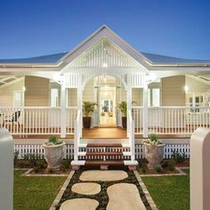 It's hard to believe that this elegant home in Brisbane's bayside is virtually a new construction, so easily does it sit in a neighbourhood of old Queenslander homes.