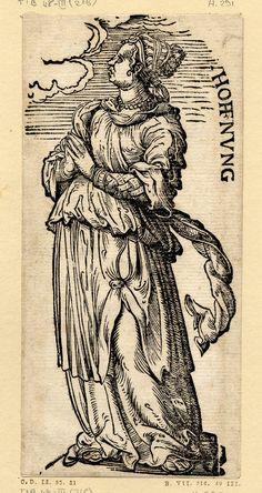 """""""Die Hoffnung"""", Serie """"Die sieben Tugenden"""", c.1510, Hans Burgkmair der Ältere (1473-1531)"""