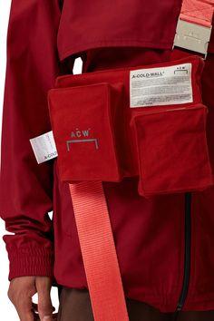 ACW* TRI POCKET UTILITY HOLSTER – RED - A-COLD-WALL* Designer Sportswear, A Cold Wall, Apocalyptic Fashion, Metallic Prints, Fashion Details, Fashion Design, Canvas Designs, Streetwear Fashion, Fashion Brands