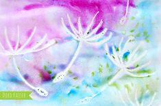Malen mit Kindern: wunderbare Pusteblumen mit Wasserfarben malen | www.dorokaiser.online.de