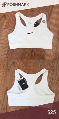 NWT Nike victory compression sports bra NWT Nike sports bra! Beautiful white color. Dri-fit, medium impact. Fits me perfectly. I am a 34c or 32d nike Intimates & Sleepwear Bras