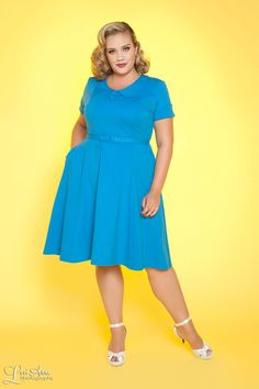 Madison Dress in Blue - Plus Size