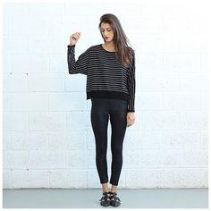 The Stripes Kimono Cut Sweater in Black & White Fashion Deals, Fashion Online, Fashion Outfits, Runway Fashion, Womens Fashion, Formal Wear, New Dress, Kimono, Black Jeans