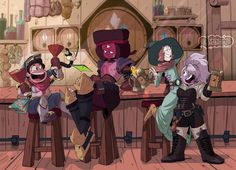 Love this twist! Looks like a Fairy Tail x Steven Universe! Greg Universe, Steven Universe Funny, Universe Art, Cartoon Network, Steven Universe Wallpaper, Steven Univese, Disney, Star Vs The Forces Of Evil, Cultura Pop