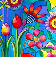 Flowers - Whimsical Pop Art & more
