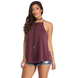 Burgundy Soft Touch Swing Tank
