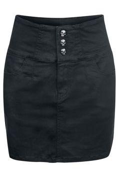 High Waist Skull Skirt by Rock Rebel ~ EMP