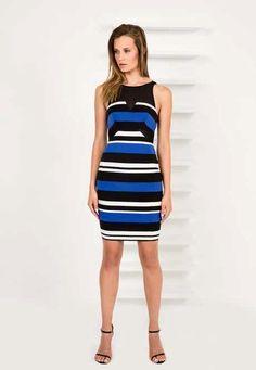 Finders Keepers - Nothing To Lose Dress Dark Stripe