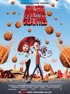 Neil Patrick Harris, Anna Faris, and Bill Hader in Cloudy with a Chance of Meatballs Kid Movies, Family Movies, Cartoon Movies, Disney Movies, Disney Pixar, Movies To Watch, Movie Tv, Tv Watch, Disney Cinema