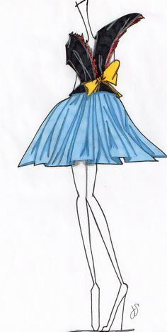Dior Couture sketch